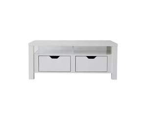 Table basse peinte en blanc